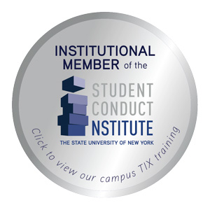 Institutional Member of the Student Conduct Nstitute. Click to view our campus TIX training.