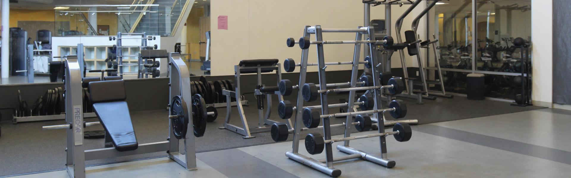 fitness equipment in the fitness center