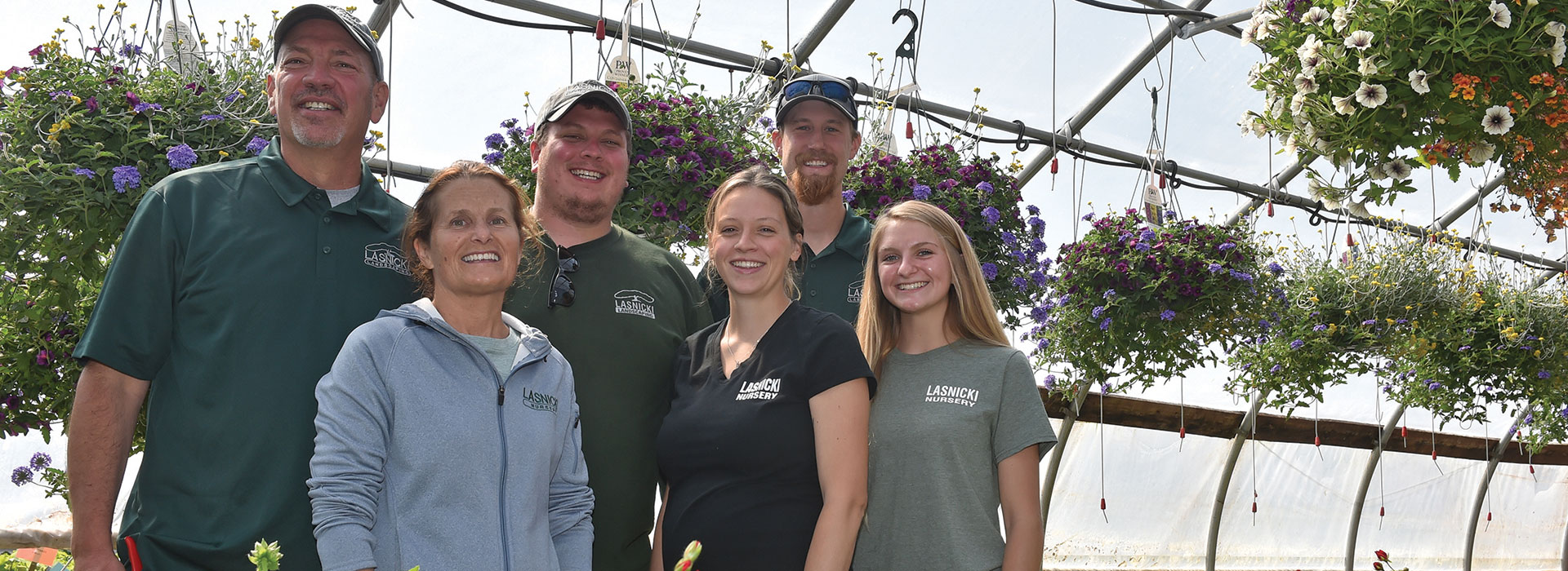 Photo by Scott Schild From left, Andy, Susan, Drew and Abby Lasnicki, Addison Moran, Ciara Putman (current SUNY Morrisville student).