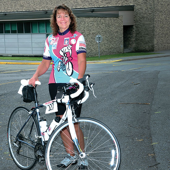 Patty King and her bike