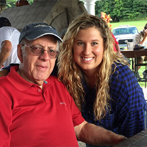 Joe Nassimos and his granddaughter, Brooke Nassimos '18