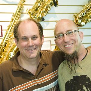 Bill Cole and Jeff Coffin of Dave Matthews Band; Photo credit Jeff Altman