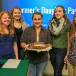Agricultural business students present their product, The Farmer's Daughter, a pancake mix. Pictured, from left: Vicki Grey, of Cattaraugus; Libby Snyder, of Scottsville, Leah Vancour, of Vernon, Connecticut; Ty Rodman, of Van Etten; and Grace Book, of Bliss.